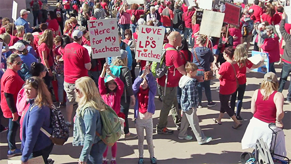 Fund Our Future picketing